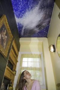 Sky mural in private home